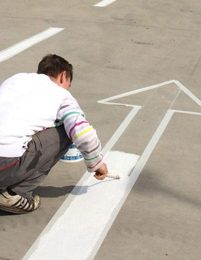 Straßenmarkierung Baumarkt in Merseburg
